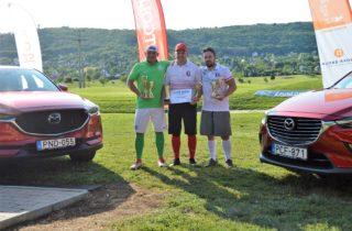 Lengyel, Gubáni és Bacskai az Autó Mirai Footgolf Verseny dobogósai