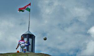 Hinora Ferenc MFGSZ alelnök a Nimród Footgolf Park megnyitóján